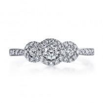 MARS 26105 Diamond Engagement Ring, 0.54 Ctw.