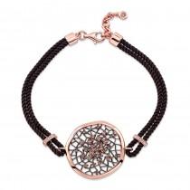 14k Rose and Black Gold Brown Diamond Dream Catcher Rope Bracelet