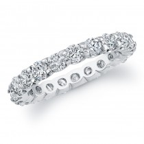 14k White Gold White Diamond Eternity Band