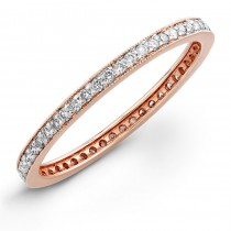 14k Rose Gold Stackable Eternity Band