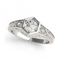 White Gold Engagement Ring 83377