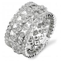 14k White Gold Antique Fashion Diamond Band NK15064-W
