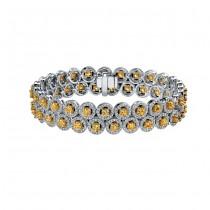 14k White and Yellow Gold Golden Diamond Bracelet - NK16880GD-WY
