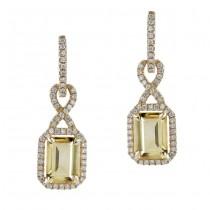 14k Yellow Gold Citrine Diamond Earrings NK19509CT-Y
