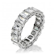 Platinum Classic Prong Diamond Eternity Band - NK7293PL