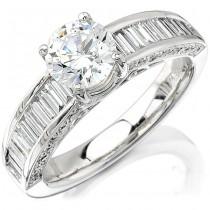 Platinum Channel And Pave Ladies Diamond Semi Mount