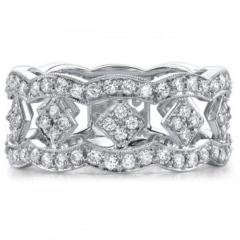 14k White Gold Fashion Diamond Band NK15406-W