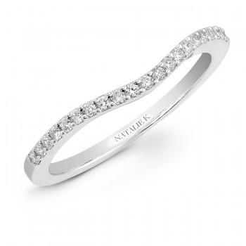 14k White Gold Prong Diamond Wedding Band NK20505WED-W