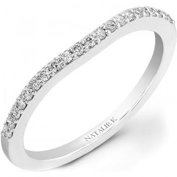 14k White Gold Prong Diamond Wedding Band NK20514WED-W